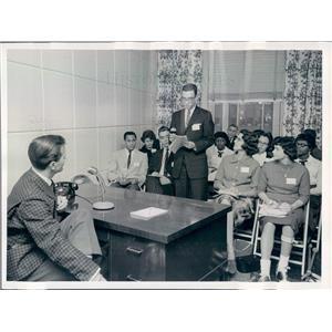 1959 Press Photo NYC Singer Pat Boone, Arnie Riesman East High School