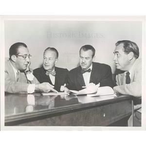 1949 Press Photo NBC Harry Kronman, Huntley Gorden, Bill Lawrence - rkf15681