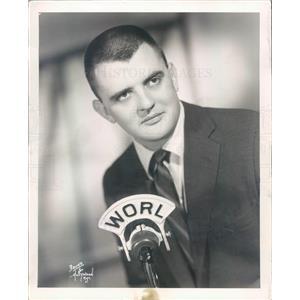 1957 Press Photo Boston MA WORL Disc Jockey Dave Maynard - rkf21511