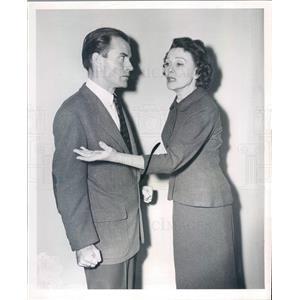 1956 Press Photo Chicago IL Actors Peter Harris, Doris Patston - rkf2705