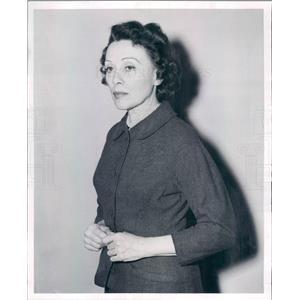 1956 Press Photo Chicago IL Actress Doris Patston in Agatha Christies
