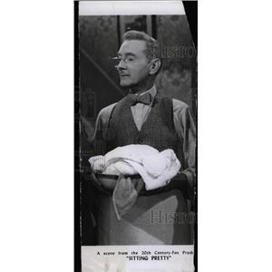 1948 Press Photo Sitting Pretty Film Actor Webb - RRW76865