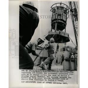 1965 Press Photo Ten aquanauts personnel transport - RRX66237