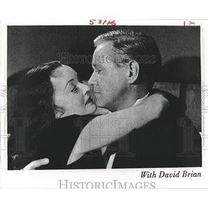1949 Press Photo Bette Davis and David Brian in Beyond the Forest. - nop09778