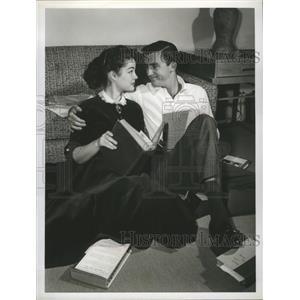 1956 Press Photo Ronnie Burns and Eileen Janssen on Front Row Center, on CBS.
