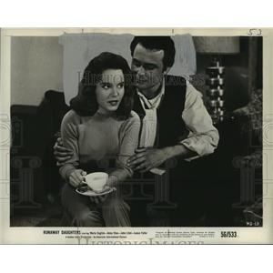 1956 Press Photo Gloria Castillo and Lance Fuller in Runaway Daughters.