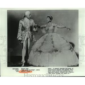 1955 Press Photo Leslie Caron stars in The Glass Slipper. - nop16161