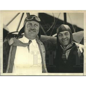 1929 Press Photo Don Templeman & Grover Mitchell Attempt to Break Refuel Record
