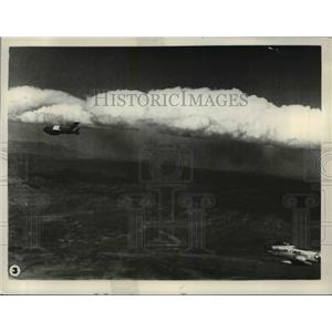 1956 Press Photo Aerial View of Planes in Sky - nem48550