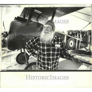 1979 Press Photo World War I pilot Robert Niemann, of Lodi, at Madison Airshow