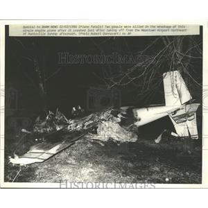 1986 Press Photo Fatal Plane Crash in Brownsville, Alabama - abna10214