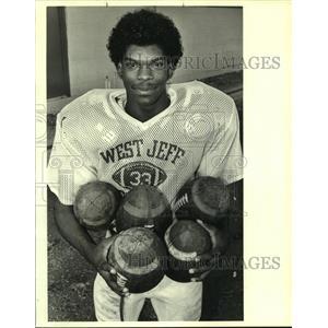 1988 Press Photo Johnny Dixon, Football Player for West Jefferson - noa90125