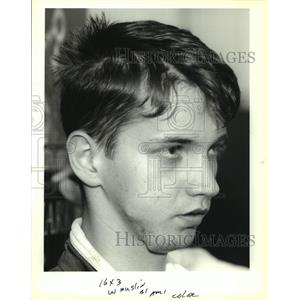 1993 Press Photo Edin Donlie of Bosnia - noa92521