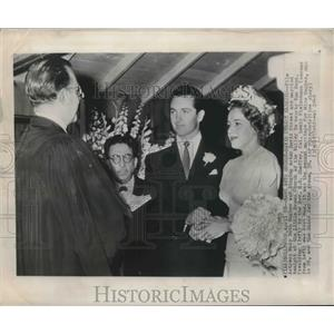 1948 Press Photo Actress Mary Beth Hughes weds David Street in Hollywood