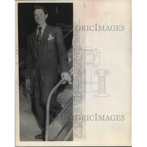1948 Press Photo John Barrymore Jr son of matinee idol arrives in Los Angeles