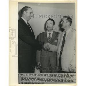 1957 Press Photo Alex Hannum named Coach of the St Louis Hawks - sba23090