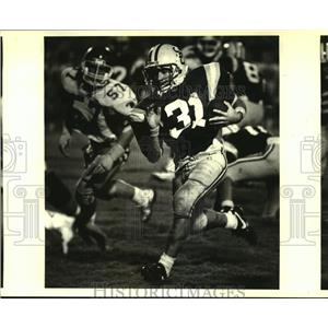 1989 Press Photo Duffy Dottolo, leading rusher for St. Charles Catholic High.