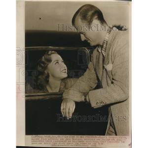 1946 Press Photo Bonita Granville actress & Jack Wrather producer - sba26116