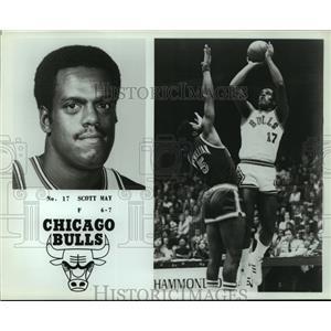 Press Photo Chicago Bulls basketball player Scott May - sas05251