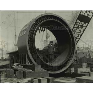 1920 Press Photo Part of the propulsion motors that will drive U.S.S. California