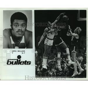 Press Photo Washington Bullets basketball forward Greg Ballard - sas05756