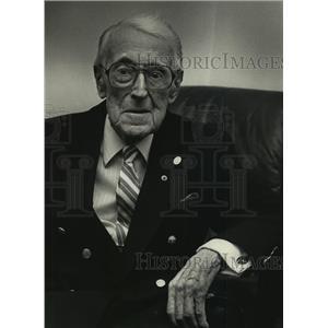 1988 Press Photo James J. Spencer of Wisconsin National Guard in World War I