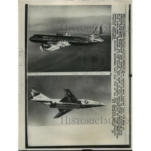 1963 Press Photo Five injured when Electra dove to avoid F101 VooDoo - nem53588