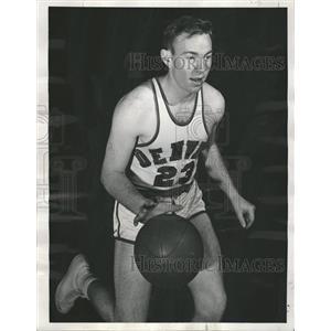 1950 Press Photo Dick Gray University Denver Dribbling - RRQ00129