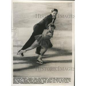 1960 Press Photo South Africa-pair figure skating - RRQ00237