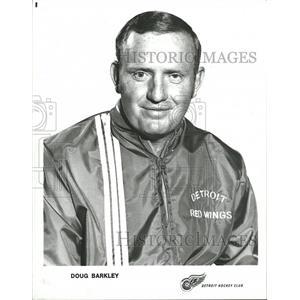 Press Photo Doug Barkley Detroit Red Wings Coach - RRQ00279