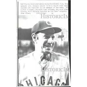 1971 Press Photo Carroll Lockman Chicago Cubs Skipper - RRQ00289