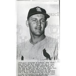 1962 Press Photo Gene Oliver, Cardinals No.1 Catcher - RRQ00851