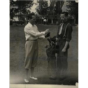 1935 Press Photo Johnny Dawson Frank Samuelson Golf - RRQ03273