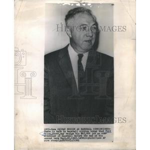 1961 Press Photo Ford Frick baseball player Wawaka - RRQ03755