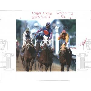 1995 Press Photo Thunder Gulch And Gary Stevenson - RRQ05771