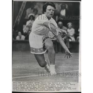 1962 Press Photo Billie Jean Moffitt King Return Hit - RRQ08025