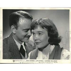"1948 Press Photo Lew Ayres and Jane Wyman in ""Johnny Belinda"" - lrz00909"