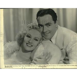 "1937 Press Photo Buddy Rogers and Betty Grable in ""This Way Please"" - lrz01022"