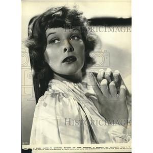 "1937 Press Photo Katharine Hepburn in ""Quality Street"" - lrz01419"