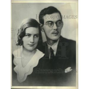 1931 Press Photo Prince Lennart of Sweden and Mlle. Karin Nissvandt. - mjc04467