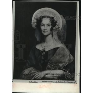 1836 Press Photo Portrait of Sallie Stevenson, wife of US minster in London