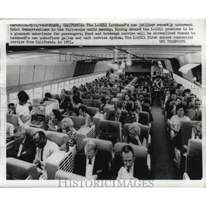 1968 Press Photo The Lockheed L-1011 shown during the dining aboard mock up