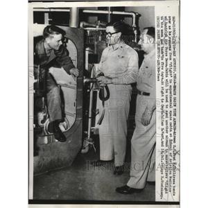 1958 Press Photo Space Cabin at School of Aviation Medicine in Randolph Field