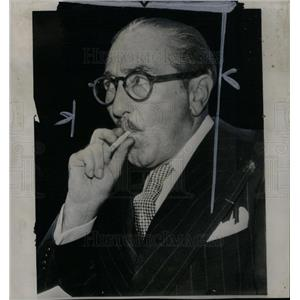 1947 Press Photo Adolphe Menjou Actor