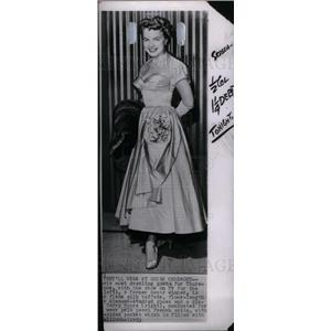 1957 Press Photo TERRY MOORE American actress
