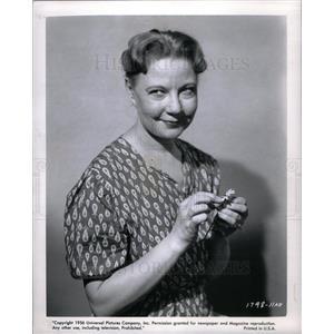 1956 Press Photo Una Merkel Actress