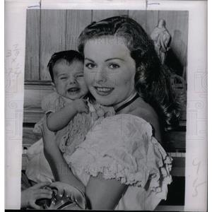 1950 Press Photo Jeanne Crain actress