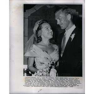 1959 Press Photo Terry Moore Stuart Cramer wedding