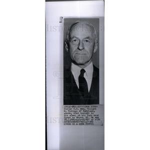 1961 Press Photo Sen Millard E Tydings Democrat dies