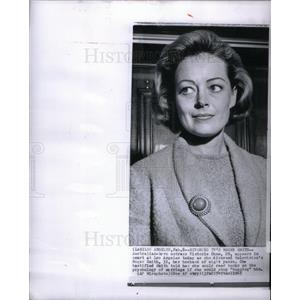 1965 Press Photo Victoria Shaw Los Angeles Court